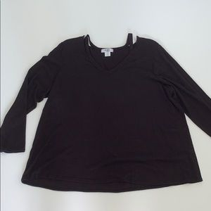 Moa Moa Woman Blouse Top Long Sleeves Size 3X New